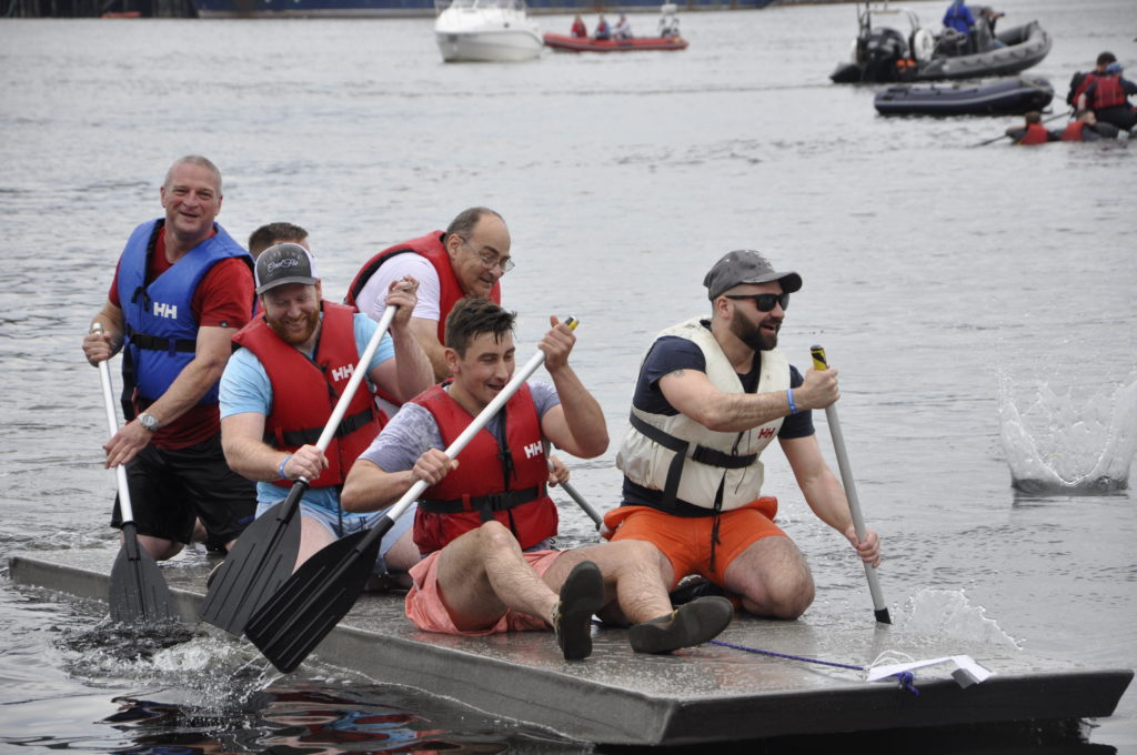 MacVicar's Farewell (Oban Distillery) finished first. 15_T35_RaftRace09