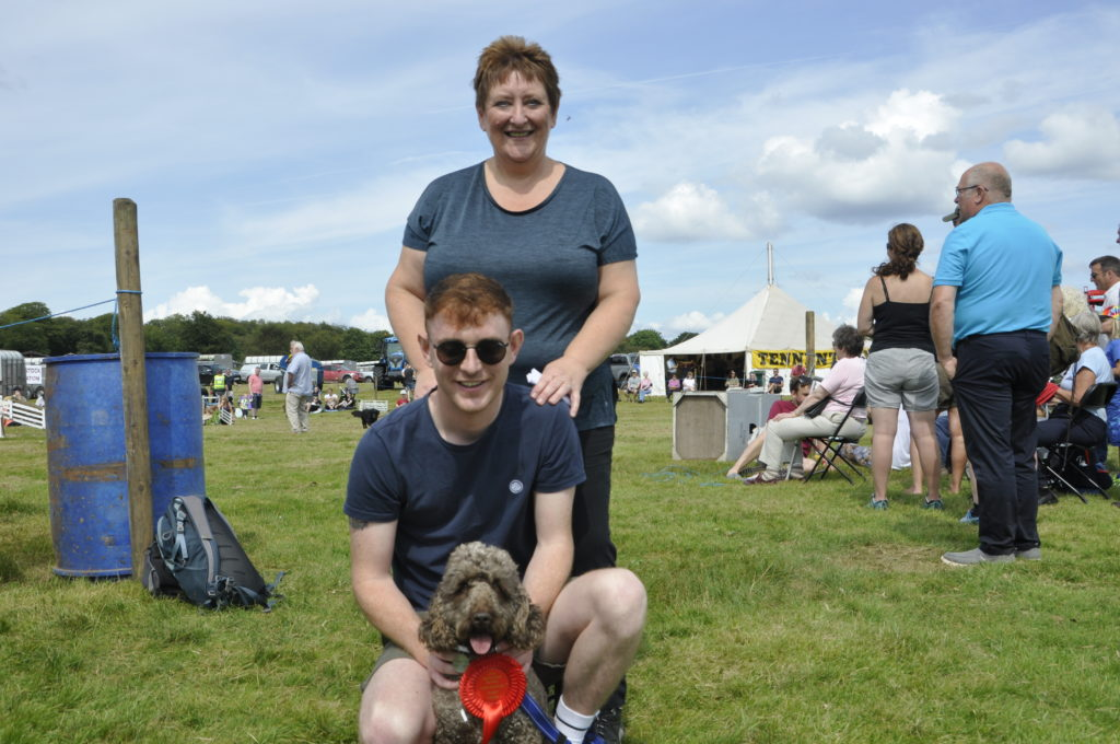 Reserve dog champion, Yogi, with his big brother Kenneth MacKechnie and owner Liz Maclean. 15_t32_LornShow07