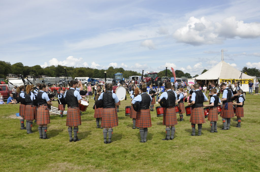 Oban High School Pipe Band provided the musical entertainment at the Lorn Agricultural Show. 15_t32_LornShow08