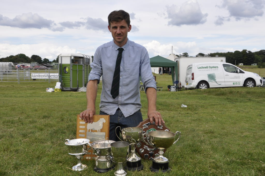 Fulton Ronald reaps the rewards from his flock of black face sheep from Saulmore farm. 15_t32_LornShow20