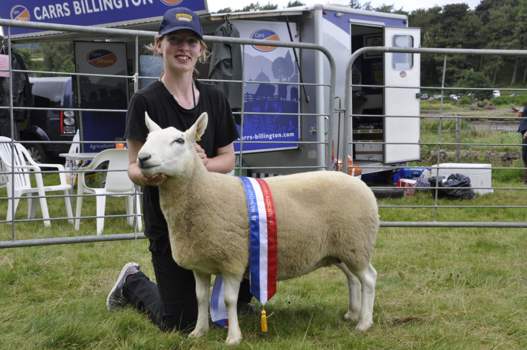Emma MacDougall with the champion of champions - her champion Cheviot.
