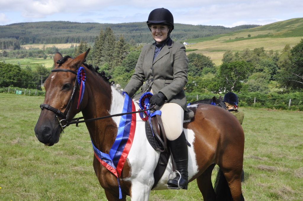 Lily Reade from Tobermory and Flossy won best ridden horse at the Salen Show. 15_t32_SalenShow10