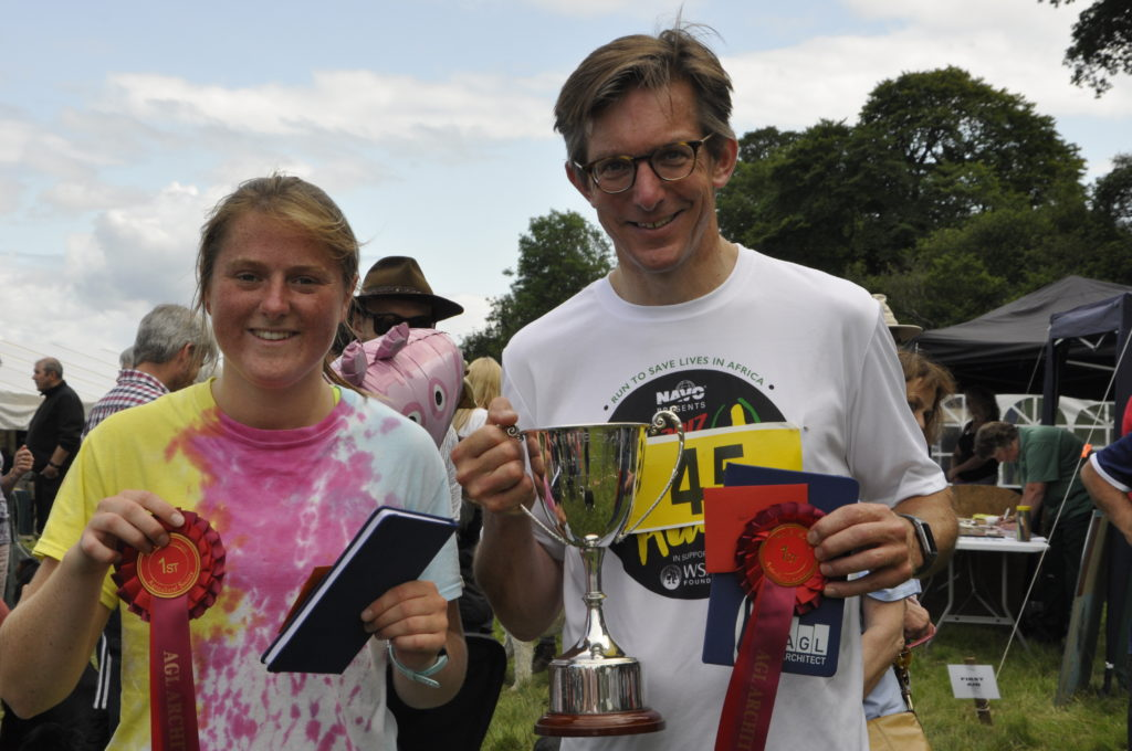 Araminta Stubbs and Chris Tufnell were victorious in the adult race. 15_t32_SalenShow12