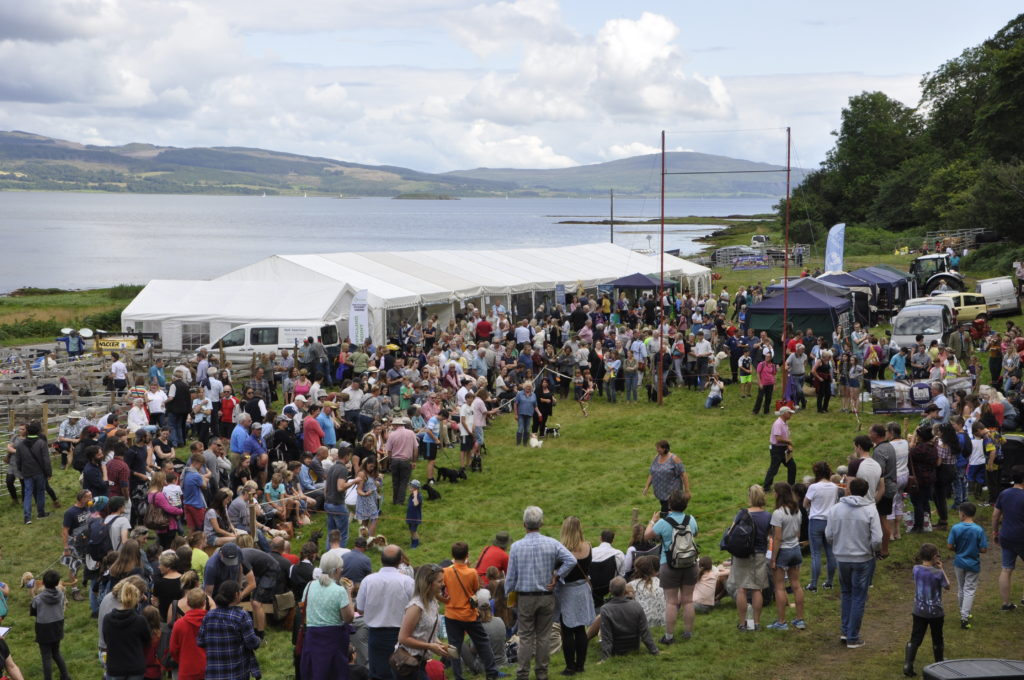 Hundreds of people crowded round the ring to watch the dog show. 15_t32_SalenShow14