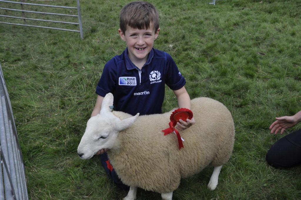 Arlo Hewitt, eight, from Tobermory, was the young handler, under 12, winner. 15_t32_SalenShow16