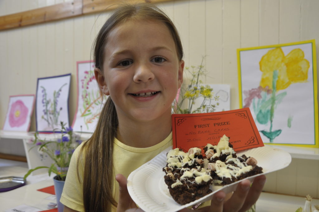 Zoe Moir, nine, got first prize for her no-bake chocolate bites.