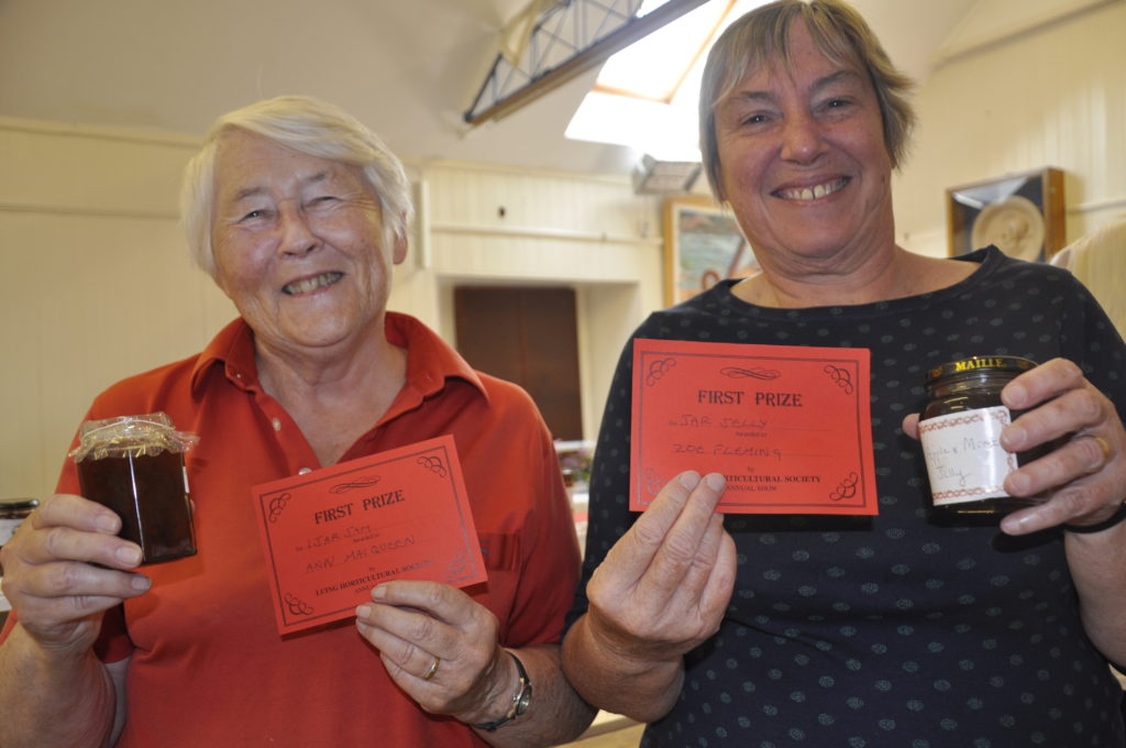 Ann MacQueen and Zoe Fleming received firsts for their jam and jelly.