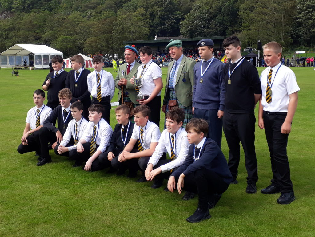 Oban High School Bulls lifted the inaugural Argyllshire Gathering Rugby Cup, sponsored by Kames Fish Farming.