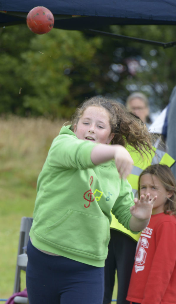 Tilly MacDonald, 10, from Morar in the Junior heavy athletes.  Photograph: Iain Ferguson, alba.photos