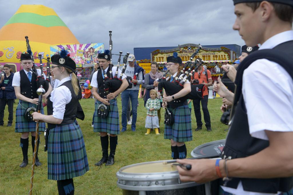 Lochaber Schools Pipe Band.  Photograph: Iain Ferguson, alba.photos