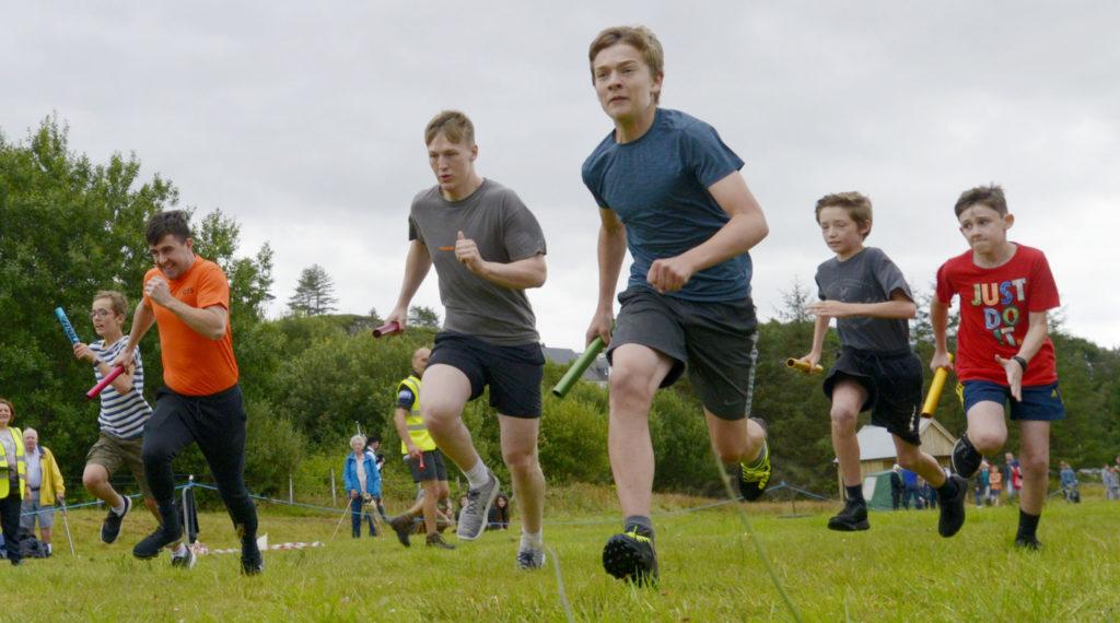 Some action from the relay race. Photograph: Iain Ferguson, alba.photos