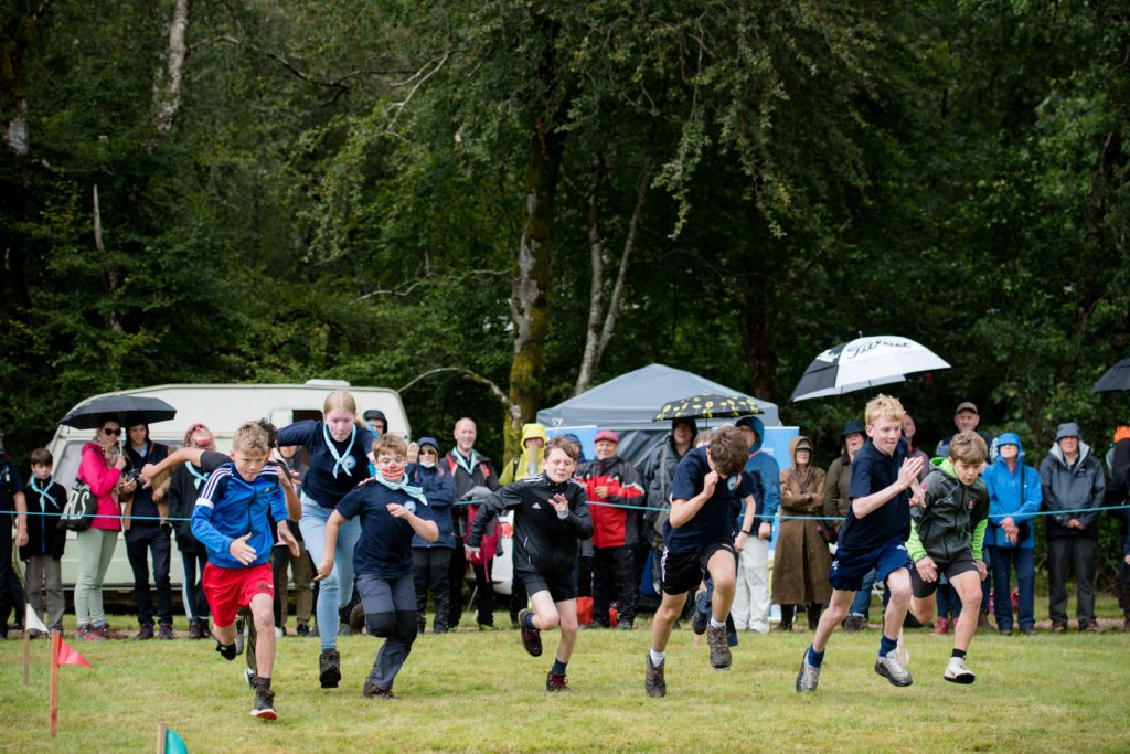 And they're off!  NO F34 Glenfinnan games-running