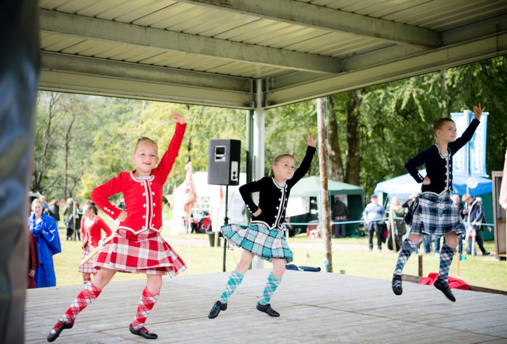 Young dancers perform the Highland fling.   NO F34 Highland dancers_01
