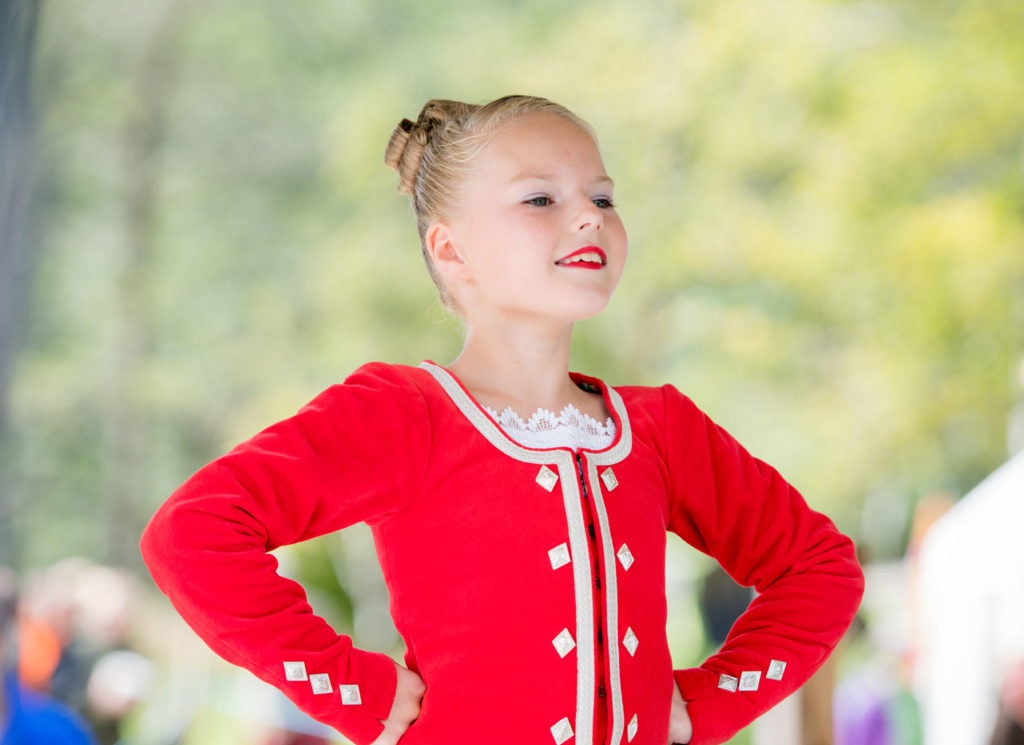 Eilidh Smith aged 9 from Huntly competes in the Highland fling.  NO F34 Highland dancing - Eilidh Smith
