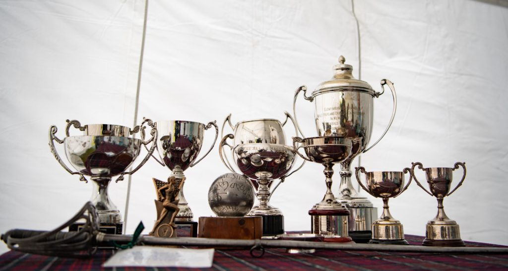 The trophies on display.  NO F34 trophies