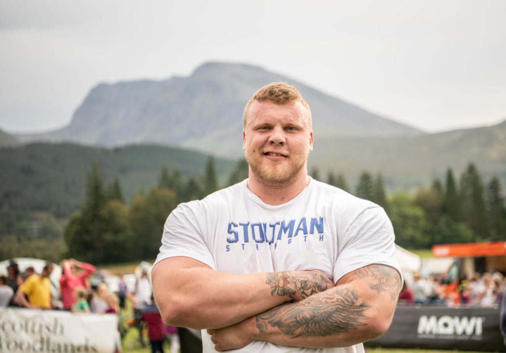Scotland's strongest man, Tom Stoltman was a surprise visitor to the show.