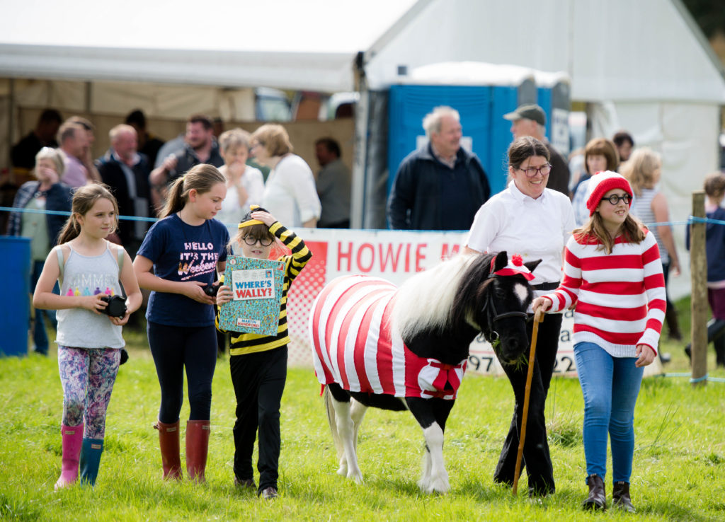 Winners of the fancy dress horse and pony competition.