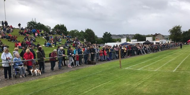 Crowds of spectators enjoyed the day's events.