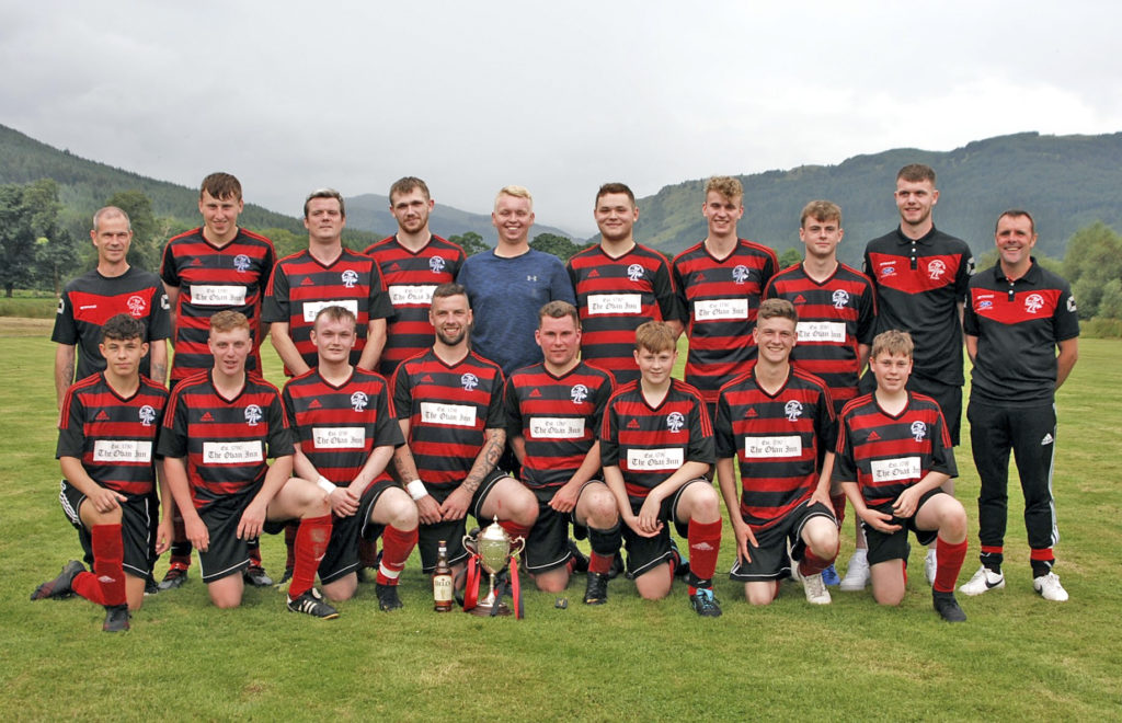Lochside Rovers with the Bullough Cup.