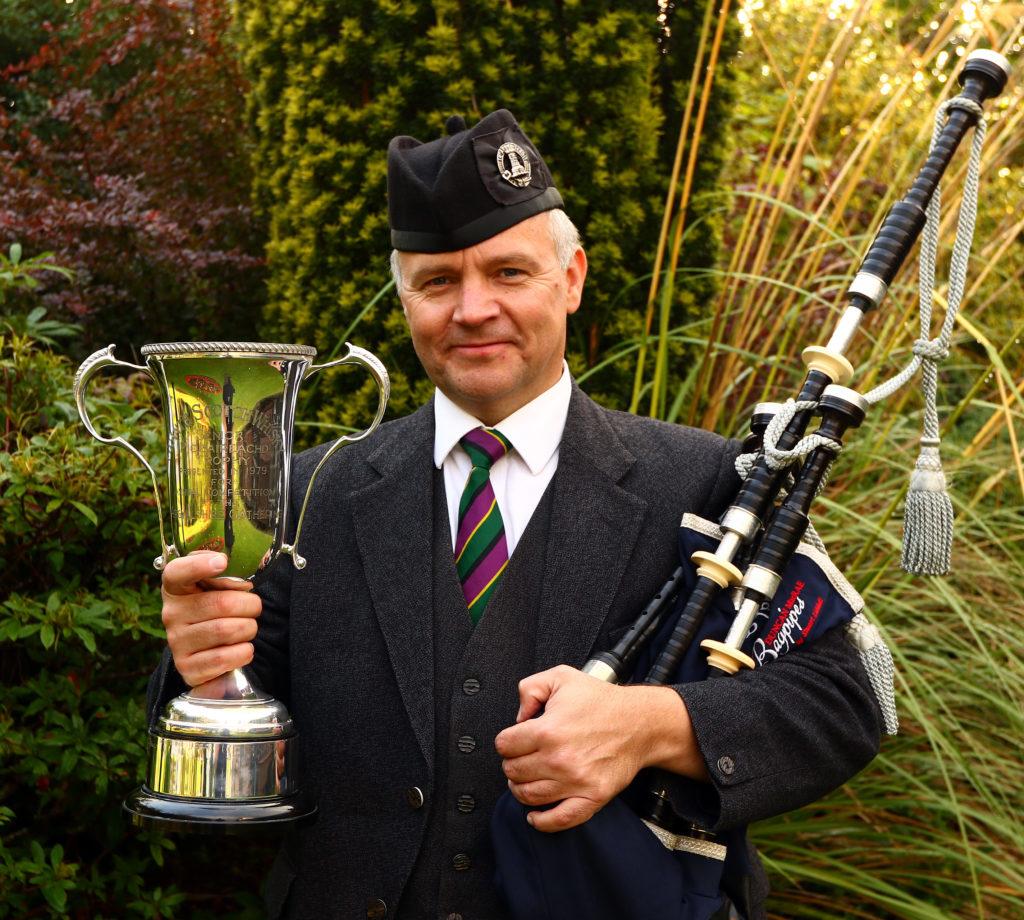Senior piobaireachd winner Stuart Liddell.