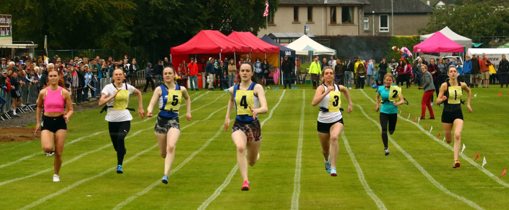 There was stiff competition in the ladies' 100m.