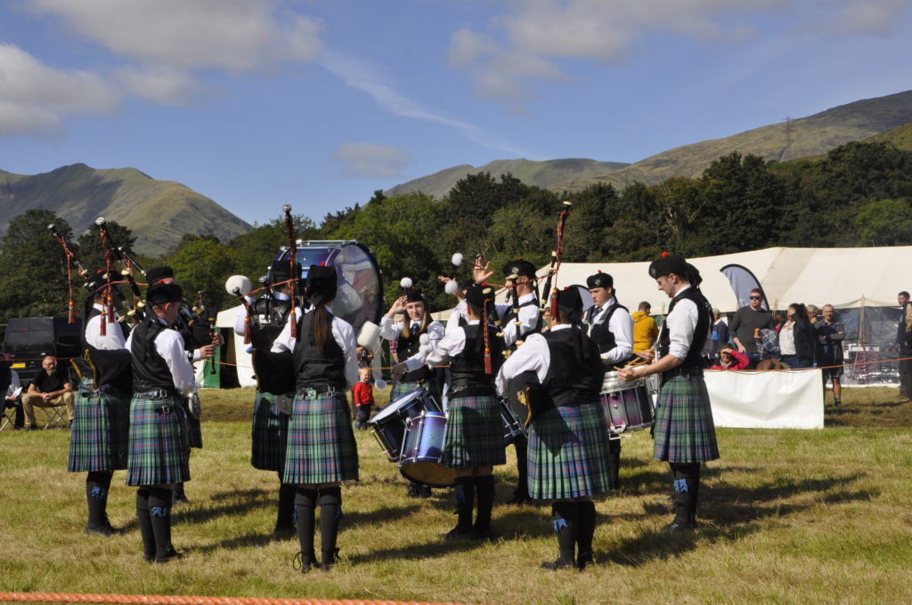 Mid Argyll Pipe Band provided some musical entertainment.