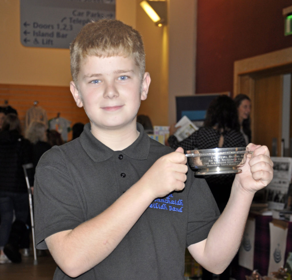 Roy Morrison, from the Isle of Lewis, won the under 13s accordion competition on Monday.  17_DM_ModMonday02
