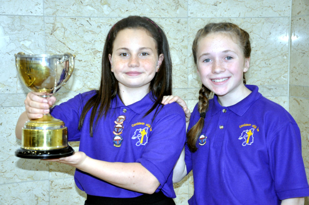 Dearbhla Newman and Charlet Rose Munro, from Port Ellen (Bun-sgoil Port Ilein) won the under 13 learners duet competition. 17_DM_ModMonday19