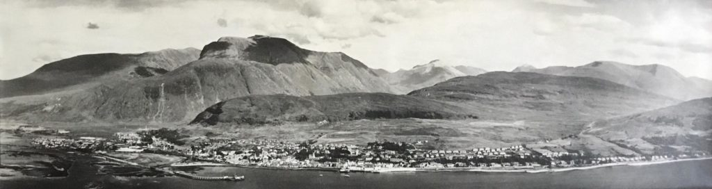 The Fort and Ben Nevis. Photograph: The Andy Paton Collection gifted to Lochaber Local History Society.  NO F45 The Fort and Ben Nevis