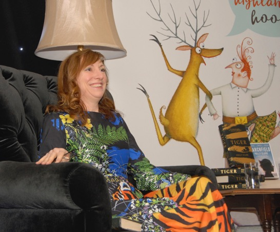 Polly Clark, author of Tiger, once worked as a zookeeper in Edinburgh and tracked Amur tigers in Siberia.  NO F46 MBF Polly Clark fascinated with stories of her book Tiger.  NO F46 MBF Polly Clark fascinated with stories of her book Tiger