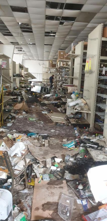 Tool store on one of the islands ripped apart in the disaster.