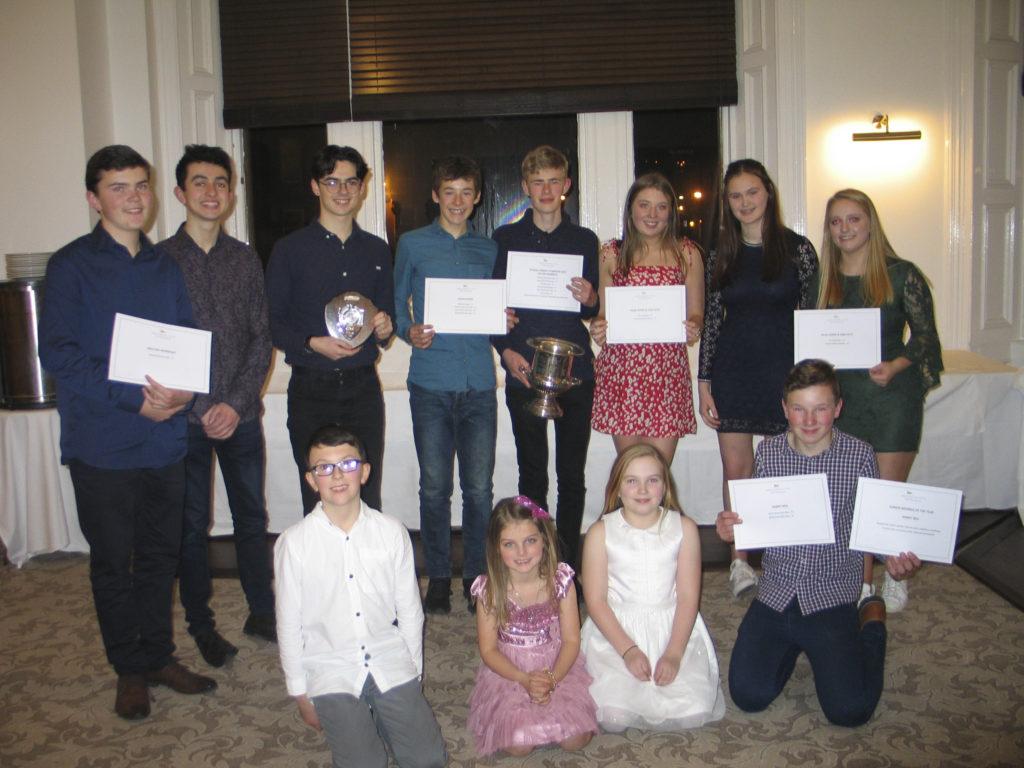 Junior dinghy winners.