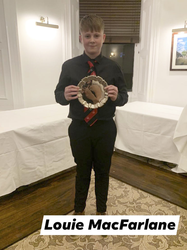 Under-14s Player of the Year – Louie MacFarlane.