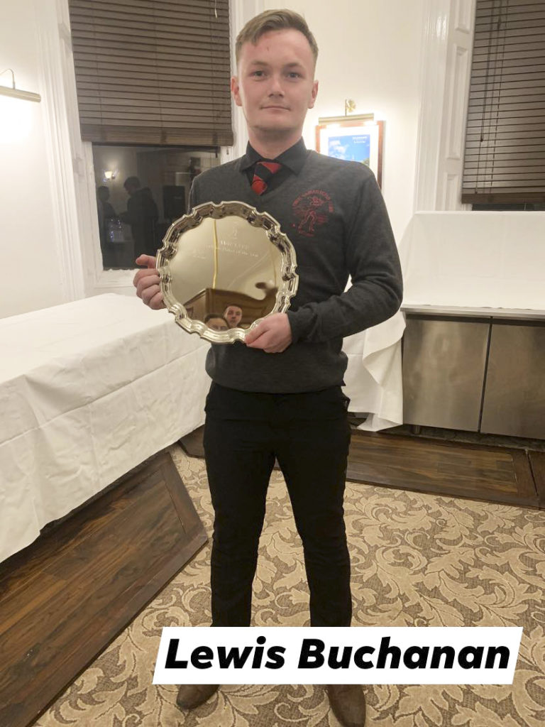 Lewis Buchanan was Lochside Rovers' Player of the Year.