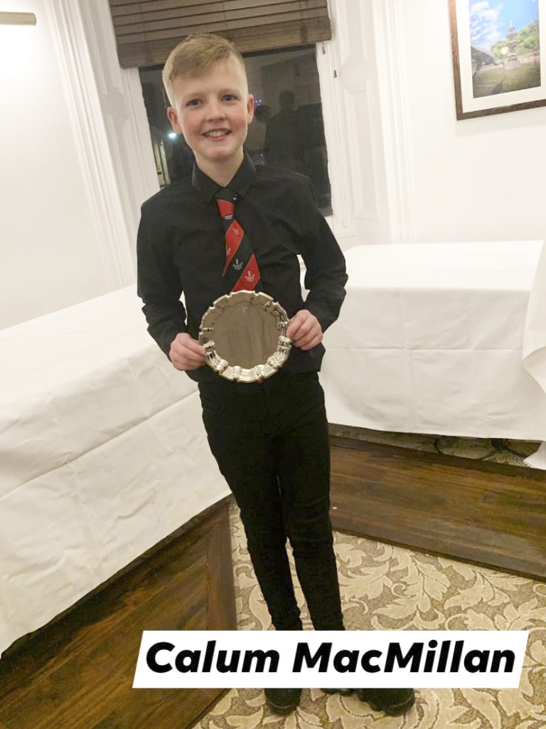 Calum MacMillan was the Under-14 Players' Player of the Year.