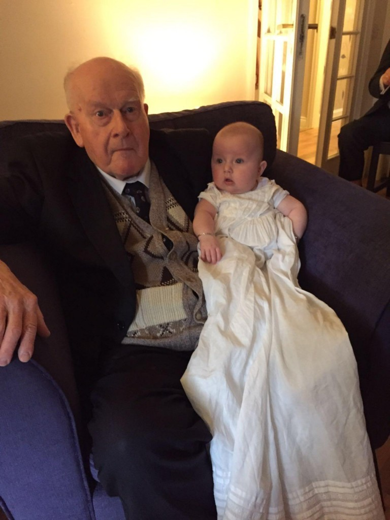 Baptism: same robe – 90 years apart