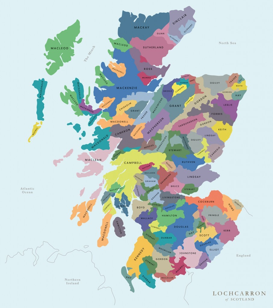 Scottish Clan Map Interactive map reveals Scottish clans | The Oban Times