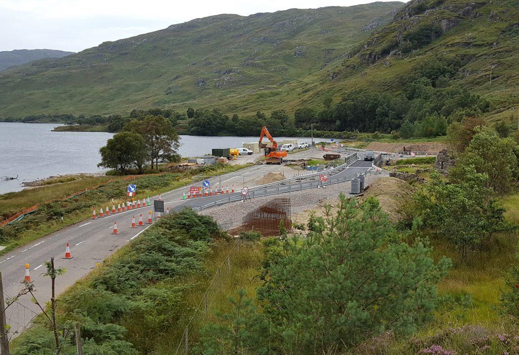 Temporary bridge successfully opened