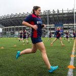 15/11/15BT MURRAYFIELD STADIUM - EDINBURGHScotland Rugby Women's Abi Evans undergos some fitness testing ahead of travelling to Spain for a 10-day camp, including a match v Spain and trips to Salamanca and Madrid.