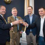 T06-Distillery-l-r-Stewart-Laing-Jim-McEwan-Andrew-Laing-Scott-Laing-Photo-credit-Ralph-Dunning