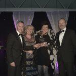 Scottish Rural Awards, Dynamic Earth, Edinburgh 2017.Pic - Paul Hegarty, Jennie Larney, Louise Glen, Fred MacAulay