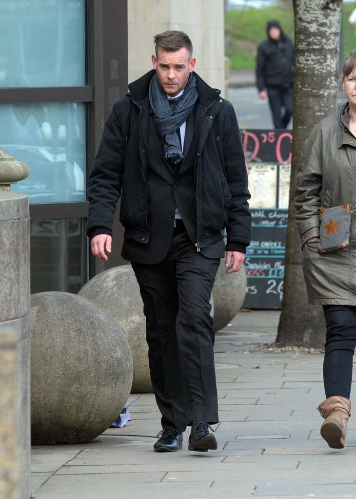 Pic shows Thomas Wainwright at the High Court Glasgow. The 27 year old denies causing a fatal crash near to Craignure, on the island of Mull. Local vet Theresa Wade died as a result of the crash. Wainwright denies driving a Maserati dangerously and while unfit through drink or drugs. Trial continues. See Glasgow Courts. Pic by Iain McLellan/Spindrift