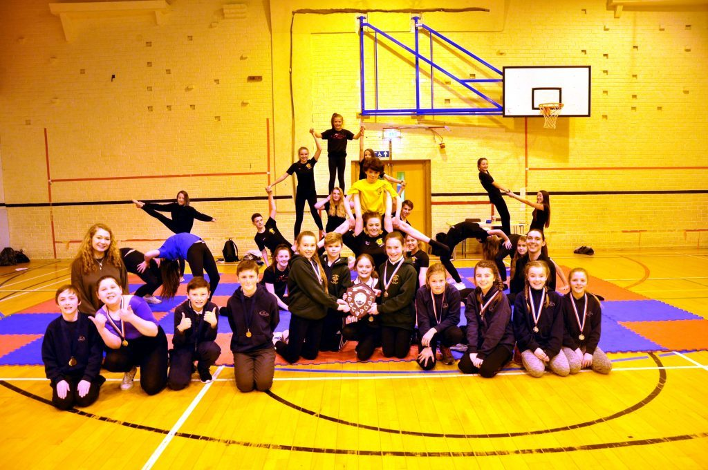 'Fearless' display by primary pupils at gymnastics festival