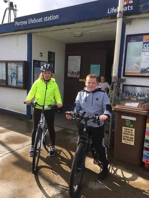 Jamie's pedal power raises lifeboat cash