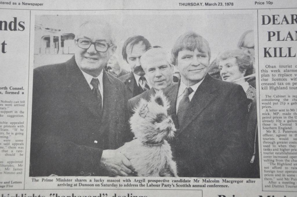 T16_Bodach_March-23-1978_Jim-Callahan-holds-dog-mascot-1