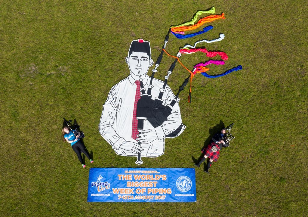 Giant mural unveiled at launch of piping events