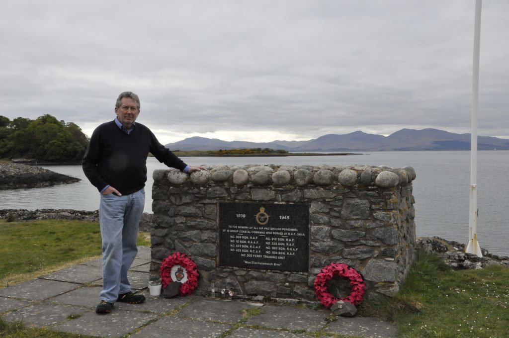 T20_Sons-last-visit-to-war-hero-crash-site_05_no_Bob-James-pays-tribute-at-the-Ganavan-War-Memorial-overlooking-where-his-father-died-75-years-ago.