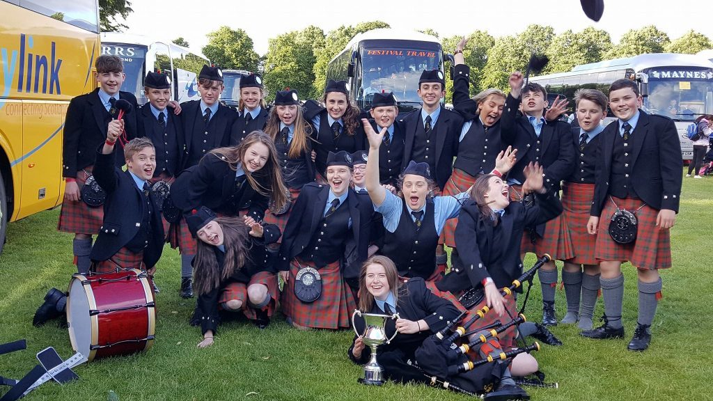 Oban High School Pipe Band crowned European Champions