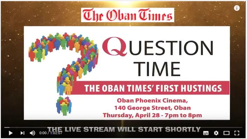 Oban Times' First Hustings
