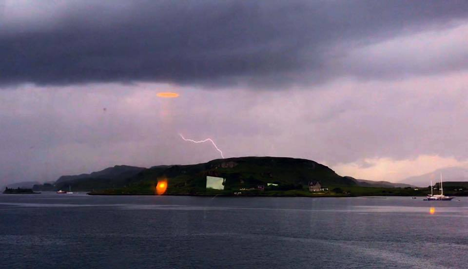 Rain and thunder caused disruptions in Oban and the west of Scotland